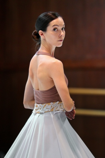 Ballet San Jose Principal dancer Maria Jacobs-Yu in rehearsal for Jessica Lang's 'Splendid Isolation III.' Photo by Chris Hardy.