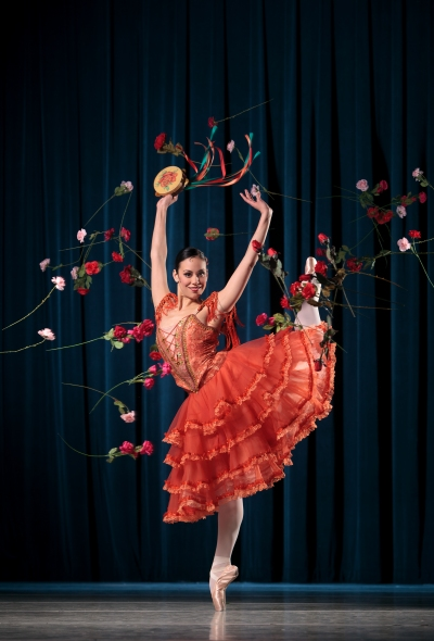 Amy Marie Briones in Don Quixote, staged by Wes Chapman after Petipa. Photo by Chris Hardy.